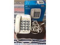 BT big button home phone 200 + Binatone big button combo home telephone