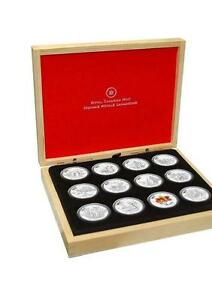 2013 Canada $10 Full O Canada Silver 12-Coin Set & Display Case