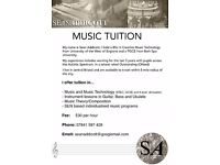 Music Tutor based in Central Bristol - £30p/h