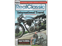 Six Issues of Real Classics. Old Motorcycle Magazines. December 2017 to May 2018.