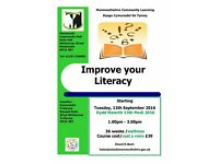 Improve your Literacy class starting at Monmouth Community Hub this September 2016