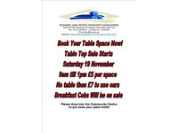 Table Top Sale Saturday 19 November 9am till 1pm