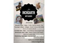 Art Classes at Inchgarth Community Centre