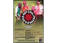 Standing tickets for sold out red hot chilli peppers concert at genting arena 11th Dec