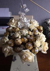 Ferrero Rocher Tree made with chocolates and Roses