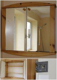 Pine Bathroom Medicine Cupboard