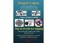 Printed T-shirts, Boys and men sizes
