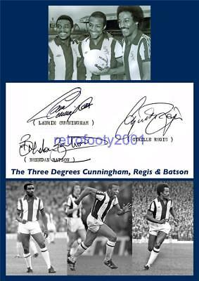 WEST BROMWICH ALBION FC CYRILLE REGIS LAURIE CUNNINGHAM BATSON SIGNED (PRINTED)