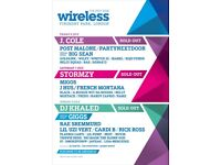 SATURDAY & SUNDAY WIRELESS TICKETS £1500 - SOLD OUT EVERYWHERE