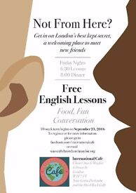 Mayfair International Cafe - fun, food, friends and English language conversation