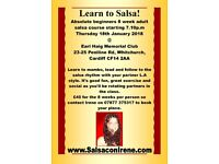 8 week salsa course starting January 18th 2018