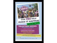 Volunteers needed at Cowley Road Carnival Sunday 2nd July. Be part of the team that make it happen