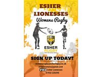 PLAY (WOMENS) RUGBY @ ESHER LIONESSES WE ARE RECRUITING WOMEN OVER 18 NOW FOR 2018