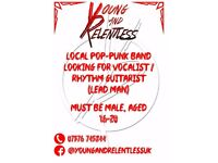 Looking for 'Lead man' who can sing and also play rythm guitar for pop-punk band Young & Relentless