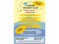 Summer Holiday Club at Miss Teaca's!