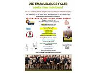 Season has started, but we still want new Rugby Players at a rugby club in SW London. All abilities