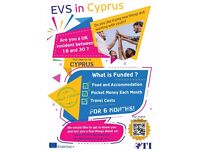 EVS in CYPRUS FOR 6 MONTHS -You will receive free accommodation, food, insurance and pocket money.
