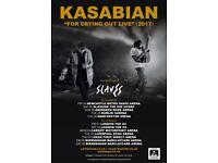 2 x standing Kasabian tickets, Thursday 7th December, First Direct Arena, Leeds