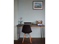 Industrial Writing Desk Mid Century Modern Style hairpin Legs 120x50cm