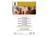 Ukulele Saturdays at Llanover Hall Arts Centre - starting 15th September
