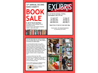 ExLibris Charity Masked Book Sale 2018: rescued books sold cheaply to benefit good causes.