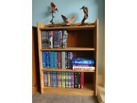 Pine Bookcase with two fixed shelves and attractive detail Ideal for Box Sets