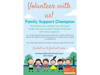 Family Support Champion in Patchway, volunteering with families with 2-3 year olds weekly activities