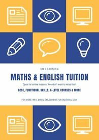 Maths & English Tuition - GCSE, A-Level & Functional Skills Courses with CM Learning Tutor