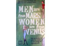 Mens are from Mars and Women are from Venus