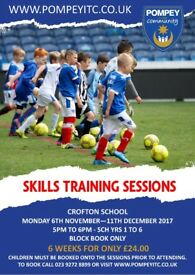 Pompey in the Community Football Skills Sessions - Crofton School, Stubbington, ages 5-11