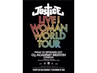 Justice Ticket Brixton O2 Friday 29/9 SOLD OUT
