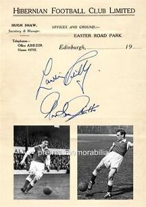 HIBERNIAN-FC-FAMOUS-5-LEGENDS-LAWRIE-REILLY-GORDON-SMITH-SIGNED-PRINTED