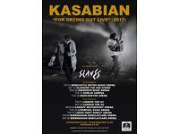 2 x Seated tickets for Kasabian Glasgow SSE Hydro