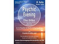 Psychic Evening at The Dilke Walsall on 6 July
