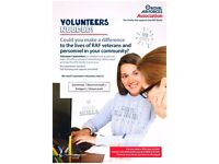 Volunteer Caseworkers required in Dorset- Bridport/Bournemouth/Dorcester/Weymouth - RAF Association