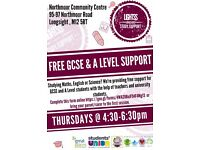 Free A Level and GCSE classes in Longsight