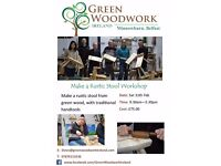 Make a Rustic Stool, with Green Woodwork Ireland. Based in Minnowburn, Belfast