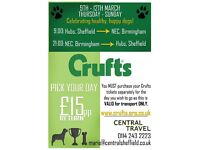 Coach Trip to Crufts (From Sheffield RETURN)