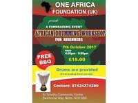 African drumming for beginners Nottingham