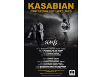 2 x standing Kasabian tickets, Saturday 9th December, Birmingham Barclaycard Arena