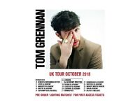 4x Tom Grennan standing tickets, Manchester Academy, Friday 12th October 2018