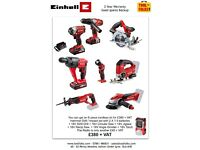 Hi Guys have a look at the Semi Pro Einhell 8 piece cordless kit for £380 + VAT