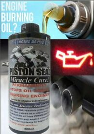 NEW - PISTON SEAL - Miracle Cure! STOPS ENGINE OIL LOSS PERMANENTLY, Add to oil.