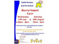 Castle Nursery and Pre School Recruitment Fairs