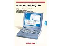 Vintage Toshiba Satellite 310CDS/CDT Laptop
