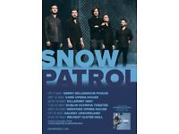 2 SNOW PATROL ULSTER HALL STANDING TICKETS