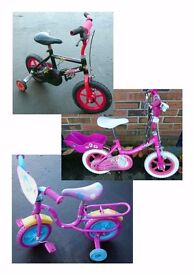 "Kids Cool 12"" Bikes with Stabilizers & Fifi"