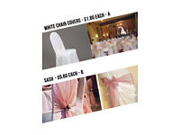 Marias Parties Wedding Decoration Party Balloon Decoration Packages from £160 chair & table cover
