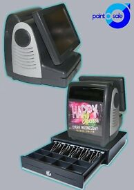 Computer shop compact epos system & cash drawer w/ full software & 5 million barcode database