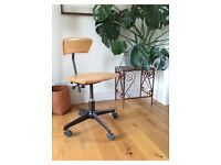Vintage SEDUS desk chair, wood and steel, super ergonomic